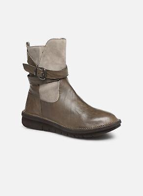 Women's Khrio 10623K SAVANA Zip-up Ankle Boots in Brown