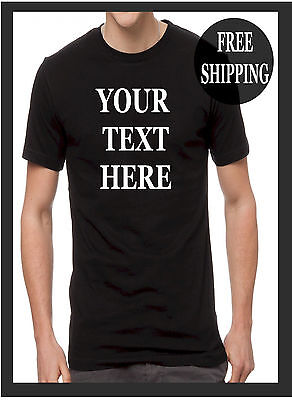 BUY your Custom Personalized T Shirt - Your TEXT CHEST PRINTED Camisetas - Buy Custom