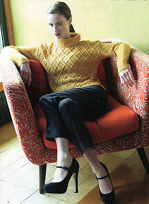 ~ Pull-Out Knitting Patterns For Lady's Ladder Stitch Top & Diamond Cable Top ~ (Diamond Pattern Pull Top)