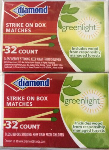 Diamond Greenlight  Strike on Box Matches, 32 Count  each box .Pack of 10.