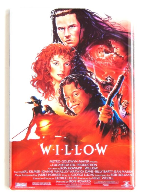 Willow FRIDGE MAGNET movie poster warwick davis val kilmer ron howard