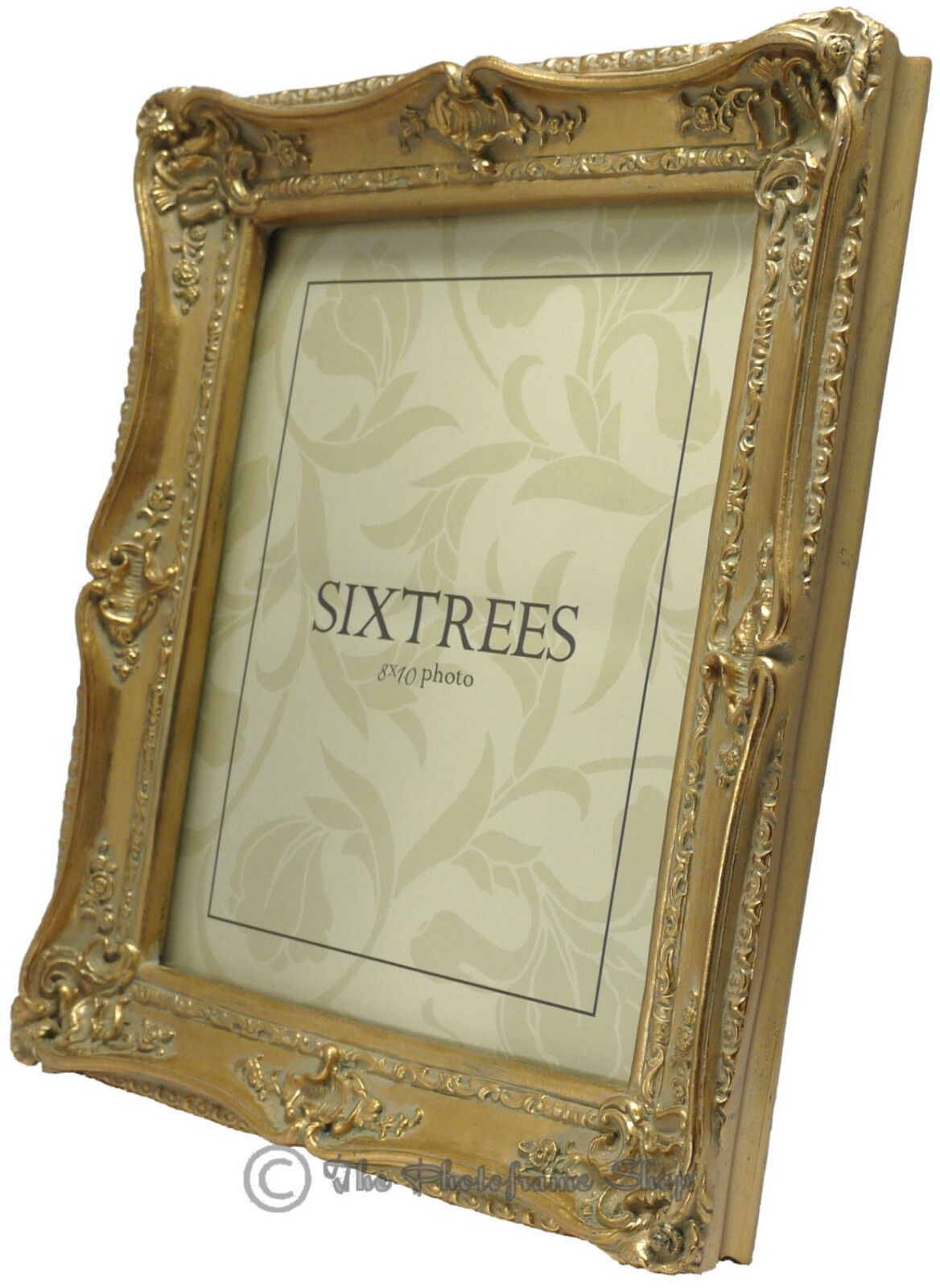 ornate swept shabby chic vintage antique style photo frames 4x4 6x4 7x5 8x6 10x8 ebay. Black Bedroom Furniture Sets. Home Design Ideas