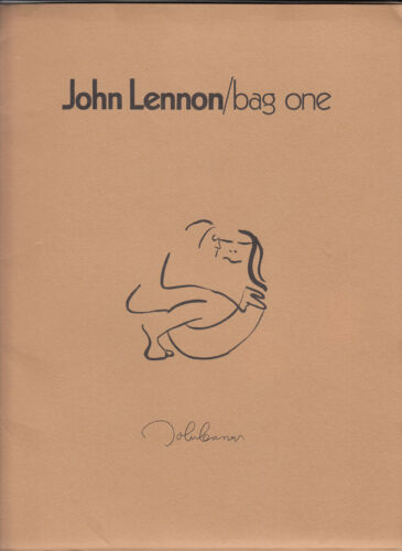 JOHN LENNON - 1970 BAG ONE ART EXHIBIT PROMOTIONAL PACK - SUPER RARE