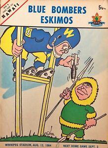 Vintage Winnipeg Blue Bomber programs