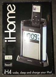 iHome iH4BV Alarm Clock Speaker System iPod iPhone Dock w/ Charger