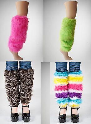 Neon Pink Leg Warmers (NEW Halloween Costume Neon Pink, Green, Animal Or Rainbow Legwarmers Stockings)