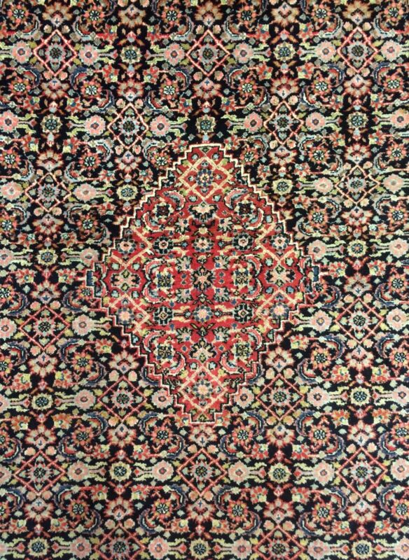 Beautiful Bijar - 1930s Antique Persian Herati Rug - Bidjar Oriental 9 X 12.2