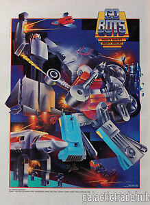 Gobots-Nestle-Quik-Poster-Vintage-1985-Tonka-Go-Bots-Promo-14x19-CyKill-Leader-1