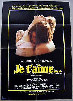 JOE DALLESANDRO – 1976 GERMAN MOVIE POSTER – I LOVE YOU, I DON'T – NEAR MINT