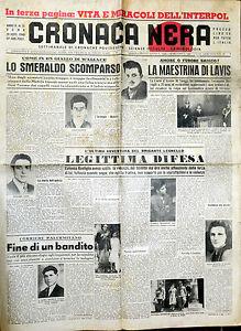 * CRONACA NERA N°35 del 28/AGO/1948 * SCIENZE OCCULTE CRIMINOLOGIA - Italia - L'oggetto può essere restituito - Italia