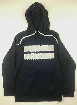 Under Armour Womens Size Medium Logo Blue Sweatshirt Pullover Hoodie Hood NWT