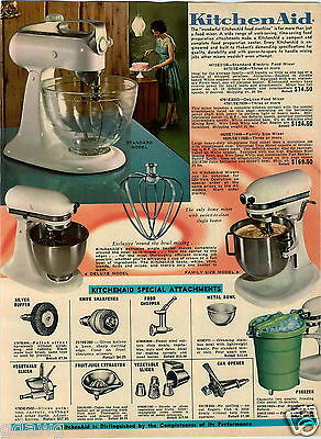 1965 PAPER AD Mixer KitchenAid Can Opener Knife Sharpener Presto Rock