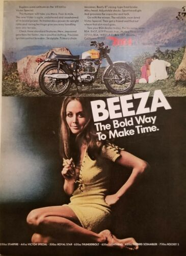 BSA 5 print ads Playboy 1967-69