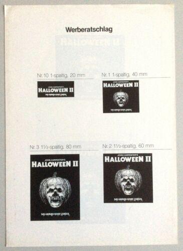 Halloween II  - Orig German Pressbook * Carpenter * Pleasance * Myers * Horror *