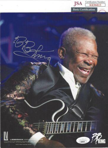 B.B. KING Signed Autograph 8x10 Photo Music JSA COA Blues