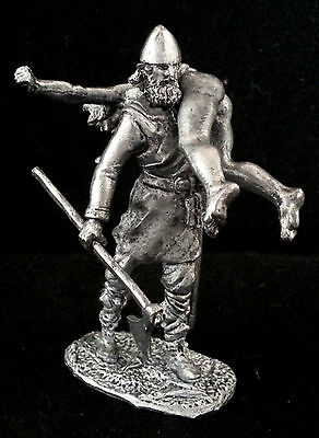 Zinnfigur  Wikinger mit dem Raub 54mm