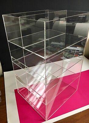 Acrylic Counter Top Display Case 9 Wide X 10 Deep X 16high 4 Tier