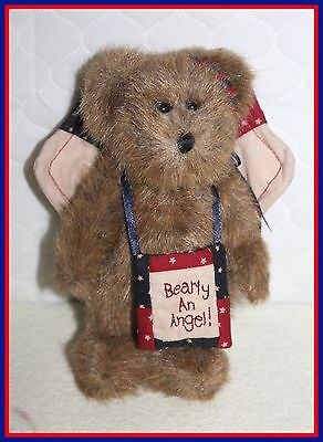 """*NEW* BOYDS BEARS 6"""" BEARLY AN ANGEL 4TH OF JULY EDITION JOINTED ANGEL BEAR"""