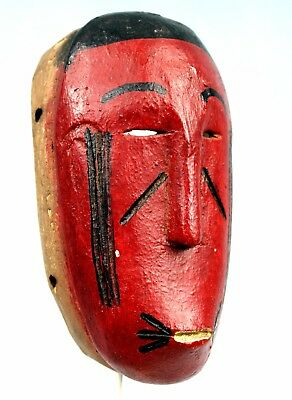 Art African Easter Maske Mask Diminutive Passport Baoulé Baule - 20 Cm