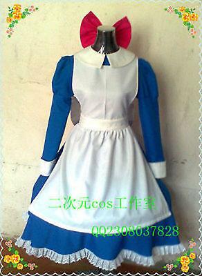 Twin Peaks cosplay costume Adult Maid dress custom made Waitress Cosplay dress@