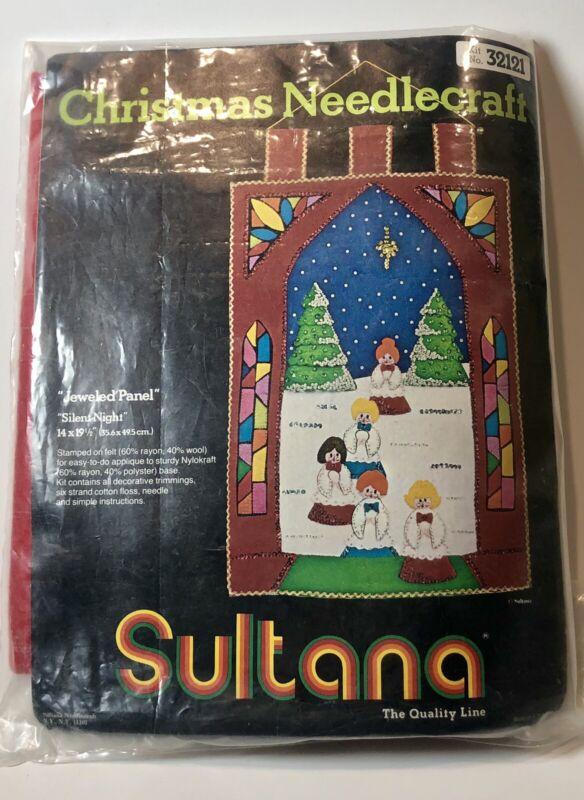 Sultana Christmas needlecraft #32121 Jeweled Panel Silent Night Open Pack