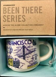 Starbucks 2oz Demitasse SAN FRANCISCO BEEN THERE mug Ornament Mini Cup NIB