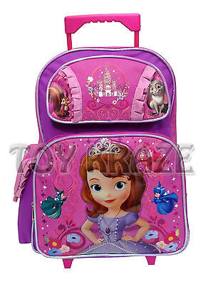 SOFIA THE FIRST TODDLER ROLLING BACKPACK! PINK FAIRIES SMALL ROLLER BAG 12