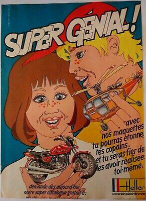 1978 Vintage PAPER PRINT AD HELLER maquettes Kawasaki moto super genial helico