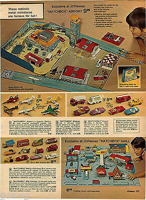 1974 ADVERT 2 PG Matchbox Airport Planes Mall Monte Carlo Rev N Roar (Monte Mall)