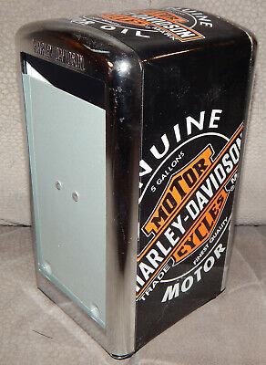 Harley-Davidson Genuine Oil Can Vintage Napkin Dispenser Black HDL-18509 Repro