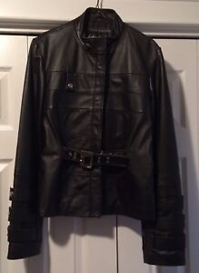 Women's Leather Jacket, Size L