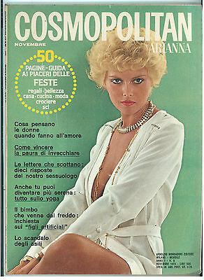 COSMOPOLITAN ARIANNA N. 8 NOVEMBRE 1973 COVER KIM FOTO MANFREDI BELLATI