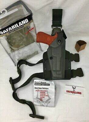 Safariland 6005 Sls Tactical Stx Green Rh Holster W Quick Release Beretta 92 96
