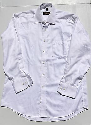 Donald J Trump Signature Collection Non Iron White Textured Stripe Mens 16 34 35