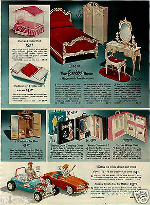 1964 PAPER AD 3 PG Barbie Doll Doll Dream House Kitchen Fashion Show