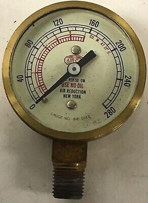 Vintage Brass High Pressure Air Gauge No. 841 0144 0-280 Kgs. Per Sq. Cm