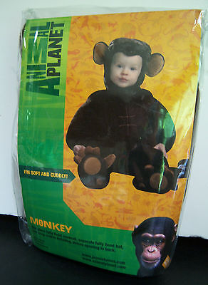 New Animal Planet Monkey Plush Toddler Costume 12-18 months
