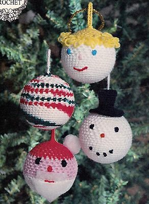CHRISTMAS Bulb Ornaments/Decor/Crochet Pattern INSTRUCTIONS ONLY ()