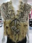 Fox Leopard Faux Fur Coats & Jackets for Women