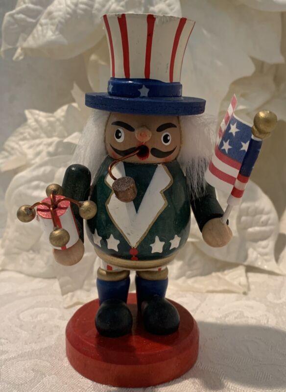 "Vintage Uncle Sam Smoker Figurine German Germany ? 5"" 4th July Americana Decor"