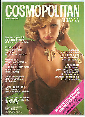 COSMOPOLITAN ARIANNA N. 20 NOVEMBRE 1974 COVER ALANA FOTO MANFREDI BELLATI