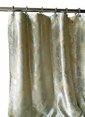 Expendable Fabric Shower Curtain Damask Jacquard Shabby Chic High Quality Silver Tan