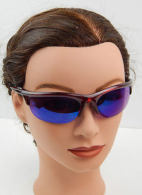 Women's Shades Of Black Sport / Golf Sunglasses, Maroon & Chrome Frames xcel