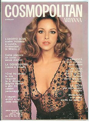COSMOPOLITAN ARIANNA N. 16 LUGLIO 1974 COVER SIDNEY ROME FOTO CHIARA SAMUGHEO