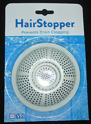 Hair Catcher Stopper Trap EVRI Flexible Best Shower Bath Drain NEW White FREE