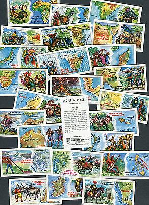 "RINGTONS TEA SET OF 25 1964 ""PEOPLE & PLACES"" TEA CARDS"