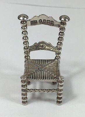 Antique Solid Silver Miniature Chair- Samuel Boyce Landeck Circa 1900