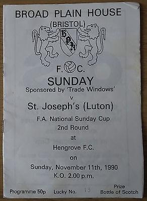 Broad Plain House v St Josephs (Luton) 90/1