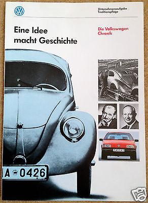 Eine Idee macht Geschichte - Die Volkswagen Chronik - An Idea That Made History