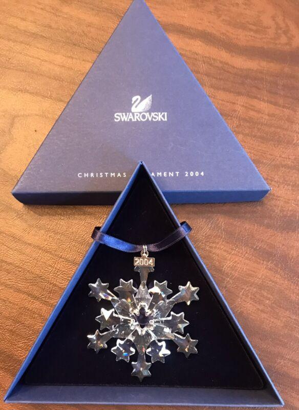 2004 Swarovski Crystal Snowflake Star Christmas Annual Ornament